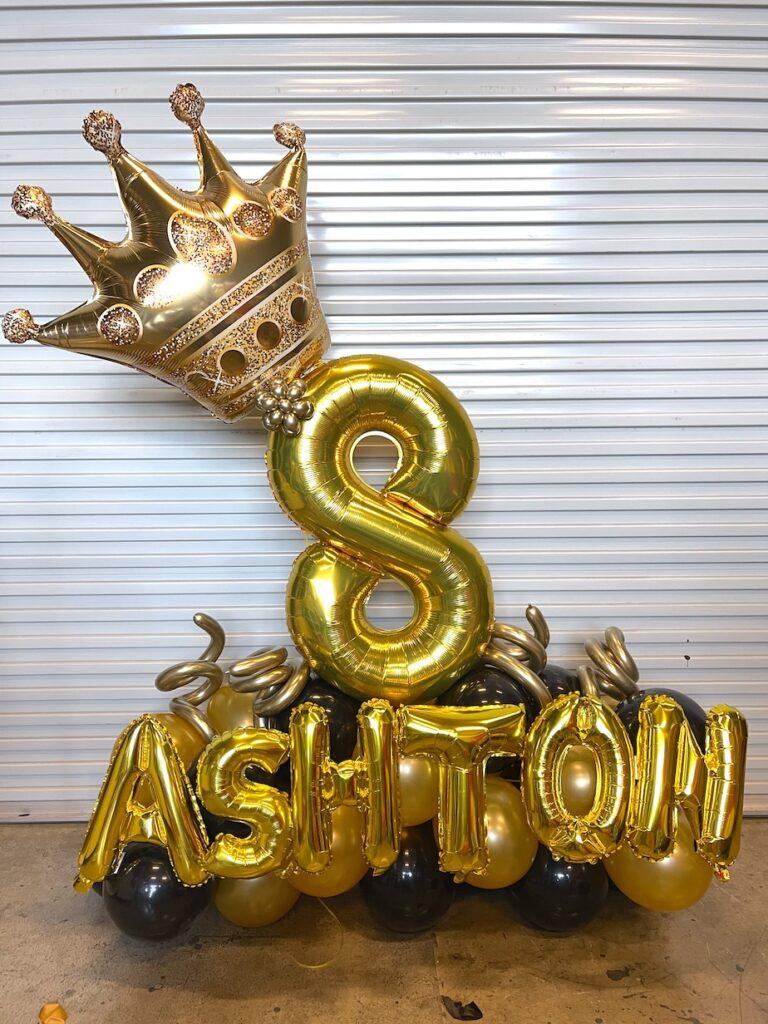 Number Balloon Decoration Display