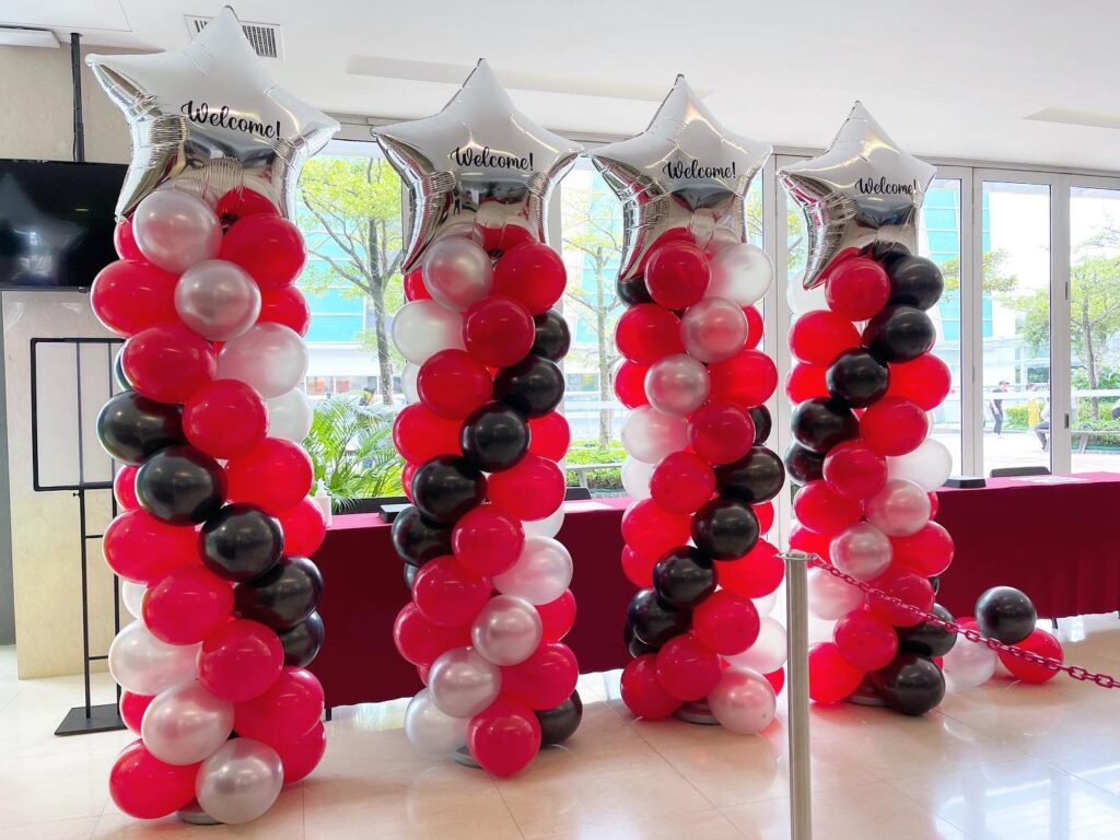 Star Balloon Pillars for Hire